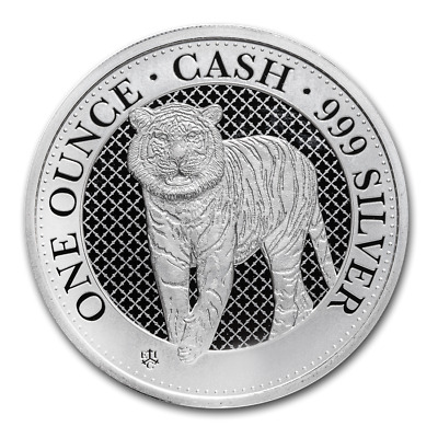 SAINTE HELENE 1 Pound Argent 1 Once Cash India Wildlife Tigre 2019