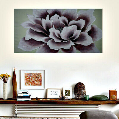 Hand Painted Modern Abstract Art Canvas Oil Painting Framed - Peony Flower