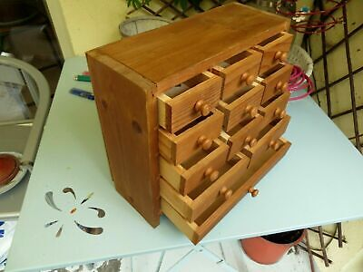 Vintage collectors cabinet chest of drawers tool box watchmakers sewing  jewelry