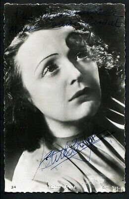 EDITH PIAF 1940's INSCRIBED AND SIGNED POSTCARD