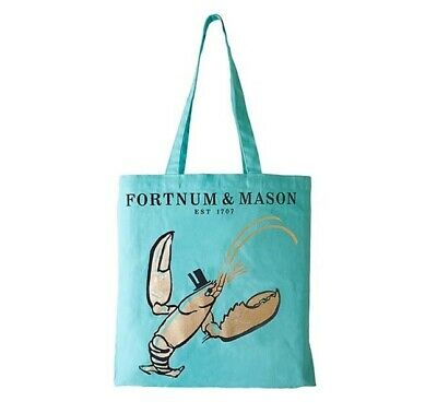 Fortnum and Mason London UK Fortnum's Lobster Bag for Life Shopping Bag, Grocery