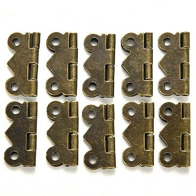 10Pcs/Set Antique Brass Butterfly Hinge For Jewelry Chest Box Wood Cabinet Gifts
