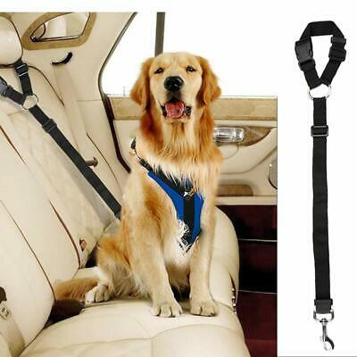 Anti Shock Pet Dog Car Seat Belt Clip Bungee Lead Vehicle Travel Safety Black