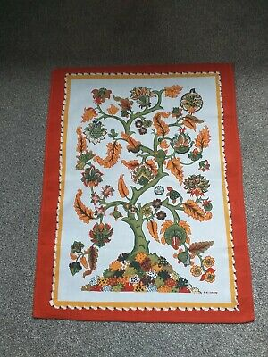 "vintage tea towel "" TREE""   10O % COTTON"