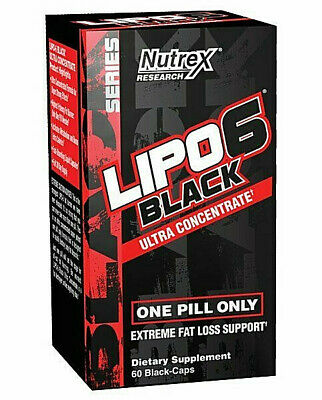 Nutrex Lipo 6 Black Ultra Concentrate Fat-Loss Support - 60 Capsules