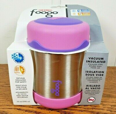 Thermos Foogo Vacuum Insulated Stainless Steel Food Jar (10 oz/ Pink/Purple)
