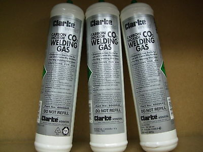 Co2 Disposable mig welding gas cylinders 390g x 3 + Free express delivery