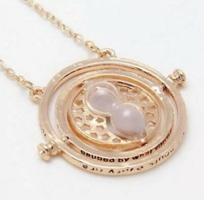 NEW Harry Potter Time Turner Hermione Granger Rotating Necklace!!