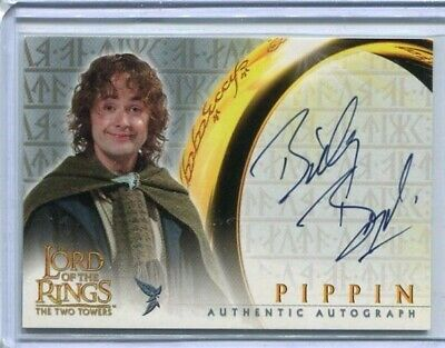 LORD OF THE RINGS: TWO TOWERS - Billy Boyd (Pippin)- Topps trading card auto