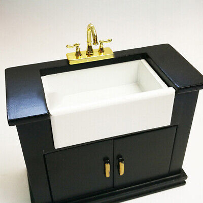1/12 Dollhouse miniature accessories mini alloy double faucet for decoration *.