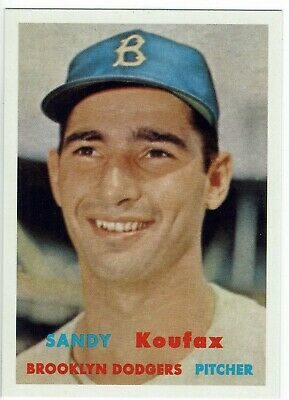 2019 Topps Series 2 Sandy Koufax Brooklyn Dodgers 1957 Topps Iconic Card Reprint