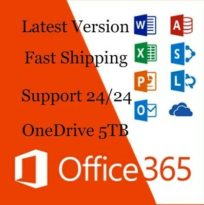 Instant Microsoft Office 365 Professionnel lifetime account 5/DEVICES/TB MAC/WIN