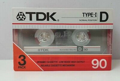 TDK Type-I D 90 minute 3 BLANK CASSETTE TAPES tape Factory Sealed