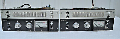 Two Akai M-8 tape recorder mono tube amplifiers working great