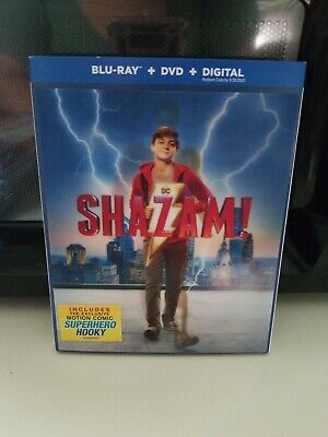 Shazam! (Blu-ray + DVD + Digital Combo Pack) 2019 w/SLIP COVER **No Reserve**