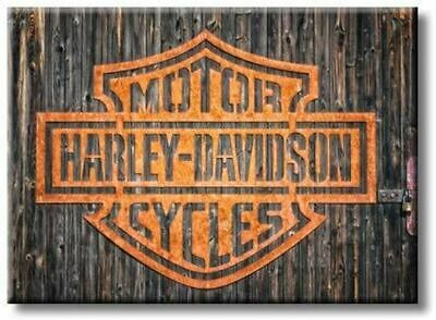 Harley Davidson Motorcycles Picture on Stretched Canvas, Wall Art Décor, Ready t