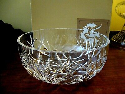 "Signed Vintage Waterford Deep Cut Crystal 10"" Bowl HandMade Republic of Ireland"