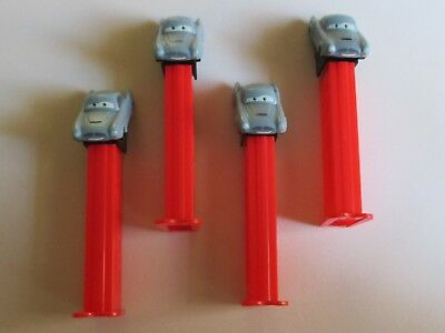 "Lot Of 4 ""Cars""  Pez Dispensers, Disney Pixar. Preowned. 4696."