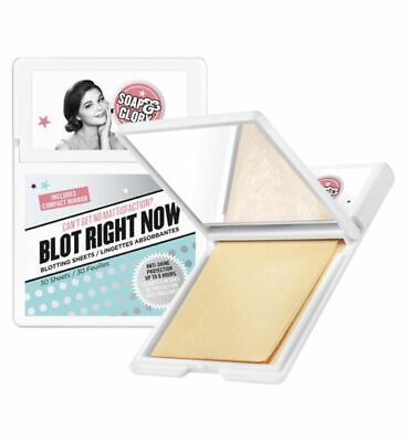Soap and Glory Blot Right Now 30 Blotting Sheets 6 Hour Anti Shine with Mirror
