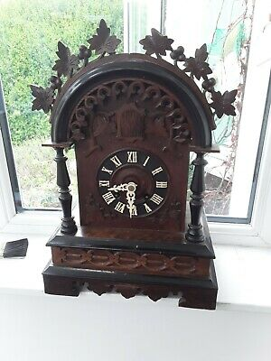 Late 19c Black Forest Shelf Cuckoo Clock working large clock