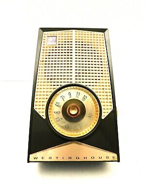 VINTAGE 50s MID CENTURY MODERN OLD ANTIQUE TRANSISTOR RADIO NICE STYLE NO CRACKS
