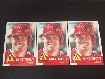 2018/2019  Topps Living Set  #200  Mike Trout   (3) Count Lot