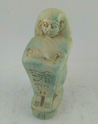 RARE ANCIENT EGYPT EGYPTIAN ANTIQUES Block Statue of Pe-Kher-Kons  1254-112 BC
