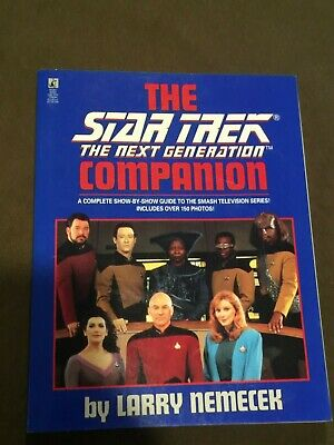 Star Trek The Next Generation TNG Companion Large Softback Book Larry Nemecek