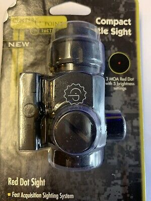 CENTER POINT TACTICAL COMPACT BATTLE RED DOT SIGHT #72609
