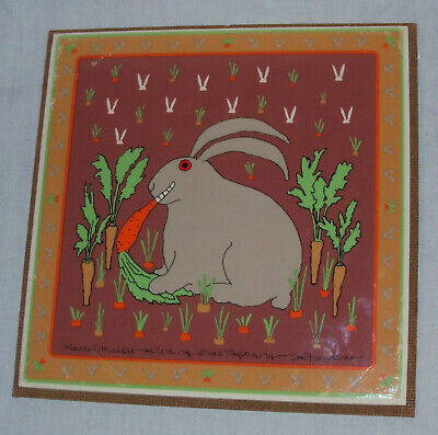 TAYLOR & NG 1982 Crazed Rabbit TRIVET HOT PLATE TILE San Francisco ONLY1 ON EBAY