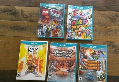 LOT OF 5 NEW Wii U Games - Mario 3D World Tank Warriors Orochi Wholesale Lot