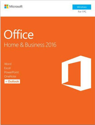 Microsoft Office Home and Business 2016 for Windows (Product Key Card)
