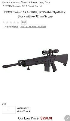 DPMS CLASSIC A4 Nitro Piston Air Rifle CenterPoint 4x32 Scope