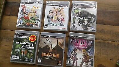 LOT OF 6 - New Sealed PS3 Games Wholesale Tales of Symphonia Star Ocean Xillia
