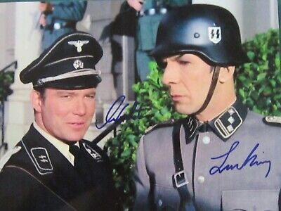 William Shatner Leonard Nimoy Star Trek Photo Autographed - Signed plus COA