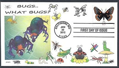 BUGS.. WHAT BUGS?  INSECTS      BUTTERFLY   FDC- DWc CACHET