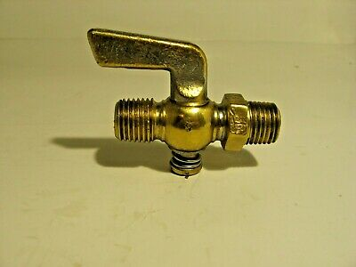 Vintage Brass Gas Ball Valve Plumbing Water Oil Gas Drain Ball Air USA