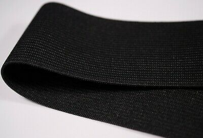 61 - 68cm of 4.5cm 45mm black woven knit elastic waist band cuffs 1.3mm thick