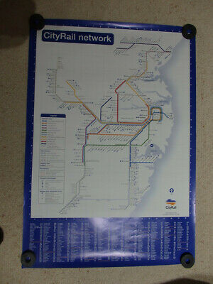 Sydney CityRail Network Poster, Railway Ephemera, Collectibles, Scarce