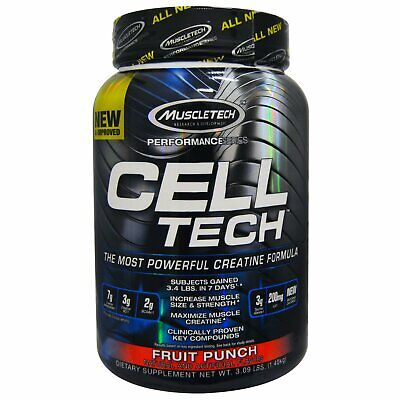 Muscletech  Cell Tech  The Most Powerful Creatine Formula  Fruit Punch  3 09 lbs