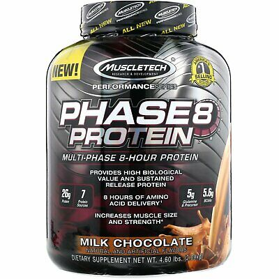 Muscletech  Performance Series  Phase8  Multi-Phase 8-Hour Protein  Milk