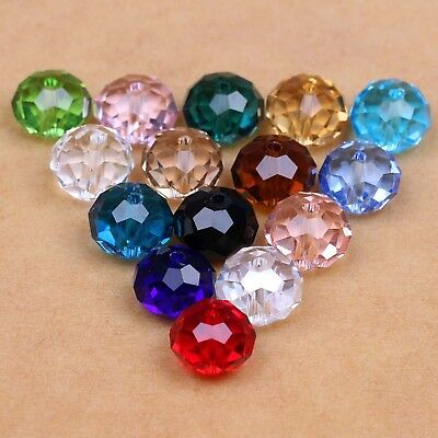6x4mm Faceted Rondelle/Abacus Crystal Glass Beads Gems Loose Beads 100Pcs