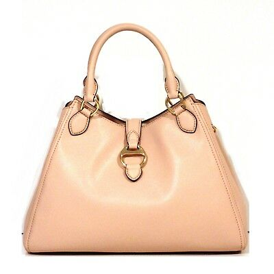 RALPH LAUREN Allenville City PINK Satchel PURSE Leather GOLD Tote MED NWT $328