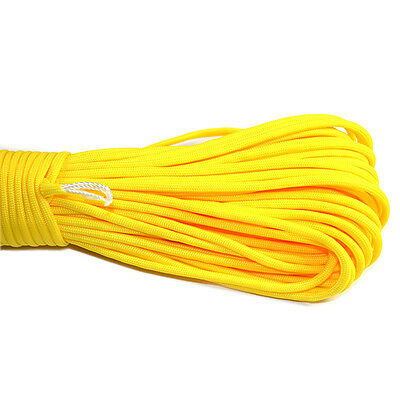 550 Paracord Parachute Cord Lanyard Mil Spec Type III 7 Strand Core 100 FT YL