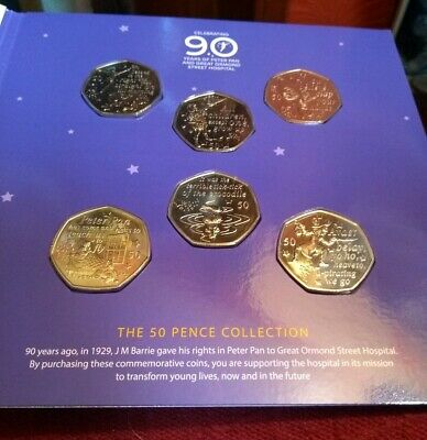 PETER PAN 50 pence Collection - Great Ormond Street Hospital - 2019 50p coin set