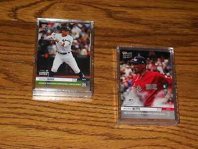 2019 Topps Now London Series New York Yankees & Boston Red Sox  15 card Team Set