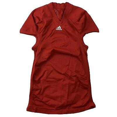 Adidas Techfit Compression Football Jersey XXL 2XL Red Climalite Authentic New