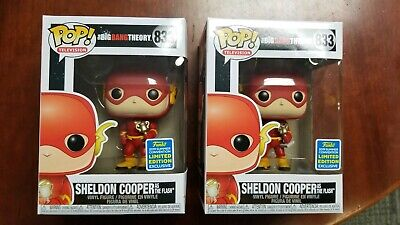 Funko Pop 2019 Sdcc Sheldon Cooper As The Flash Big Bang Theory #833 New In Hand