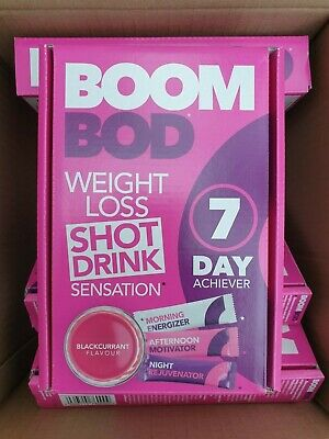 2 Boxes - BOOMBOD 7 Day Achiever 21 Sachets / BOOM BOD Blackcurrent