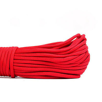550 Paracord Parachute Cord Lanyard Mil Spec Type III 7 Strand Core 100 FT Red